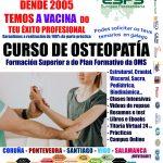 Cursos de osteopatía en Coruña, Pontevedra, Santiago de Compostela e Vigo